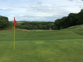 #17 - Par 4 - Green back with the 16th green down below