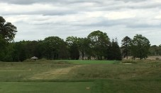 #14 - Par 3 - Tee view of the final one-shotter