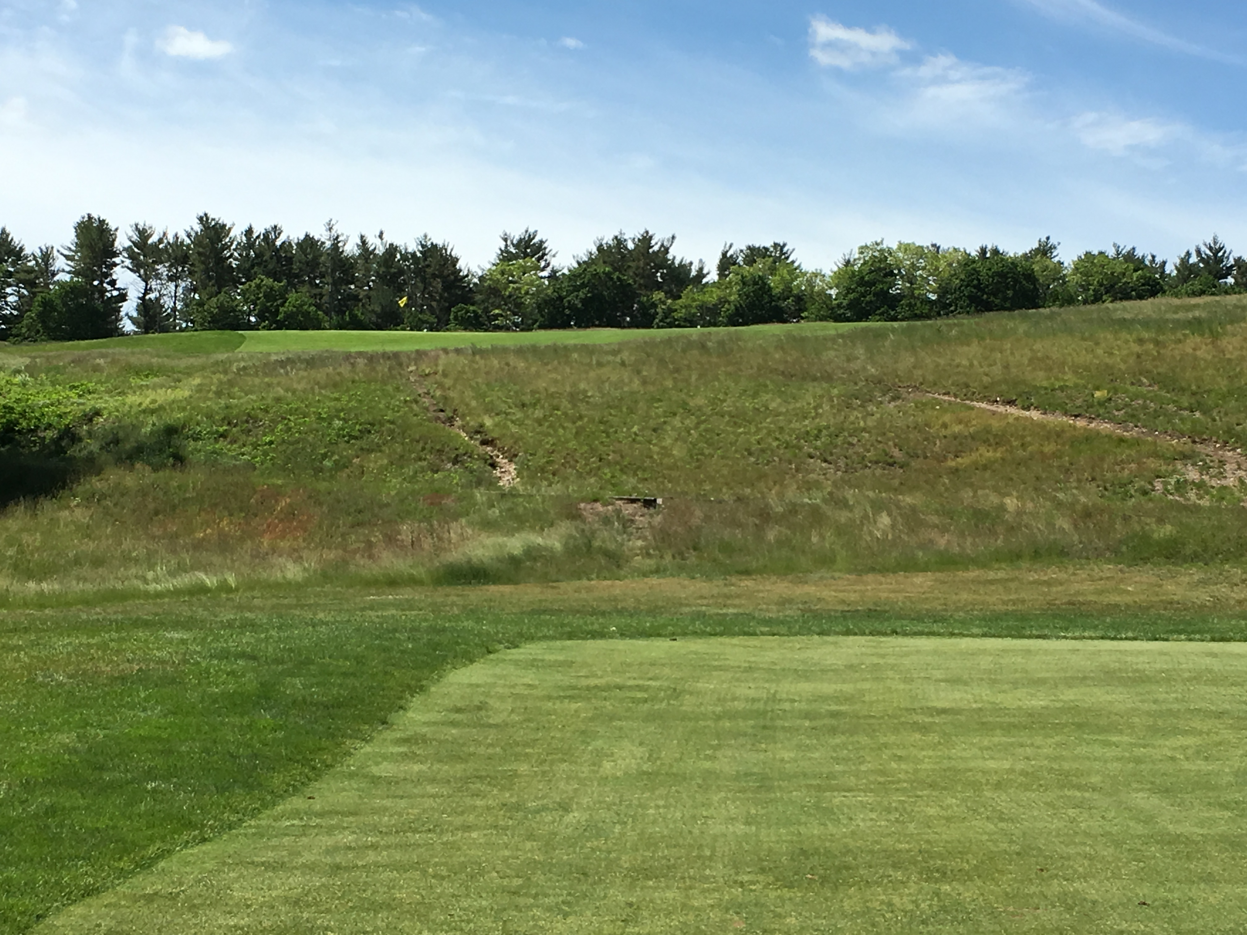#13 - Par 4 - The approach up several stories to the elevated green