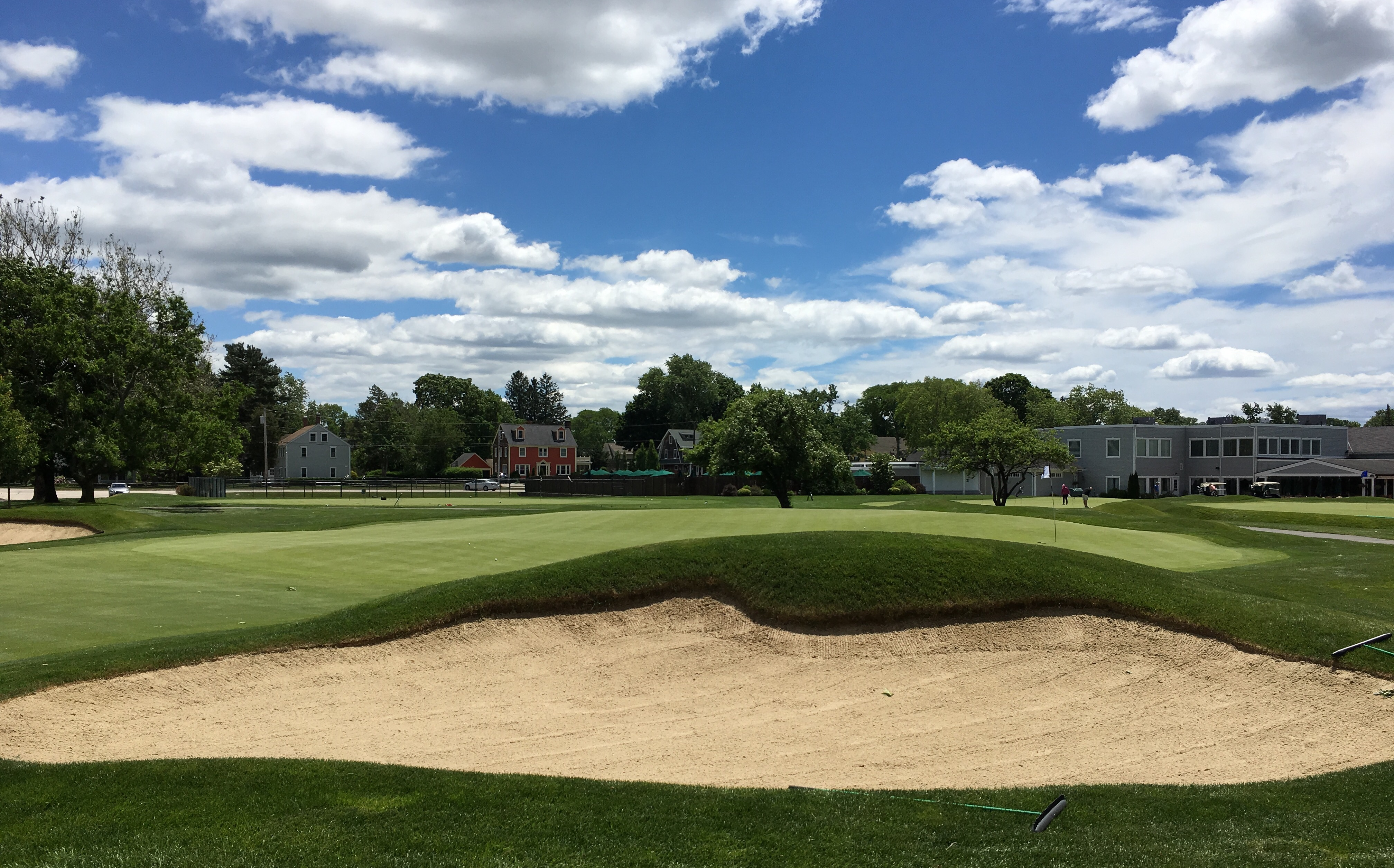 #18 - One last Ross mound bunker short right of the green