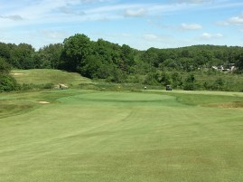 #7 - Par 4 - Approach to the domed green