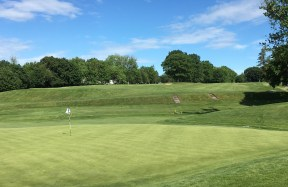 #2 - Par 4 - View back to the elevated fairway