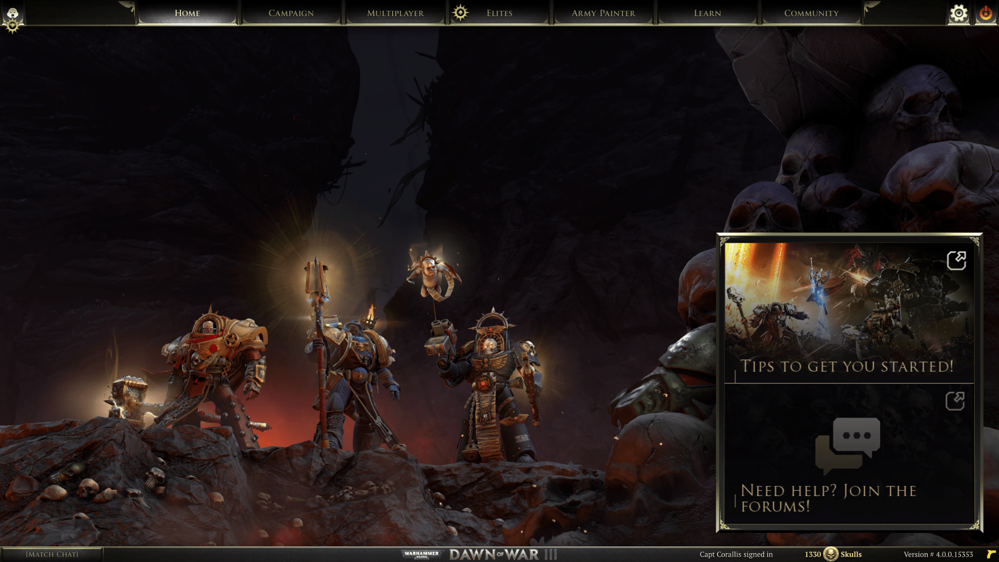 Dawn of War 3 Open page