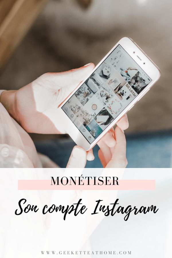 monétiser son compte Instagram