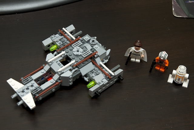 Y-Wing body assembled