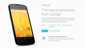 Nexus 4 web page.