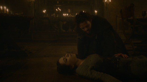 Robb and Talisa at Red Wedding