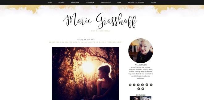 Marie Grasshoff Autorenblog Blogempfehlung