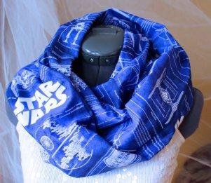 Star Wars Blue Print Extra Wide Infinity Scarf