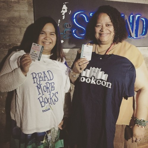 Barbara and Leslie won tickets to BookCon and some cool Swag!  Photo by TheBookCon