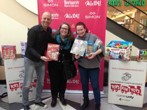 Donating Toy's to a radio toy drive.