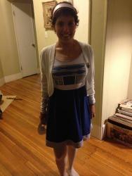 Brunchette Bree in her R2-D2 Dress