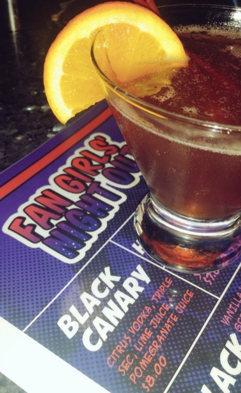 Drinks were named after badass ladies, like Furiosa, Hermione, and Black Canary!