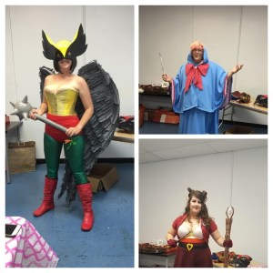 The first, second, and third place winners in our cosplay contest!