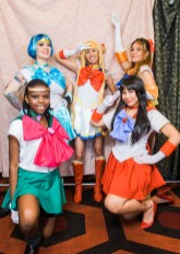 Photo booth at the 2016 International Sailor Moon Day at The Alamo Drafthouse South Lamar on Saturday, August 6, 2016. Erika Rich for POMEgranate Magazine