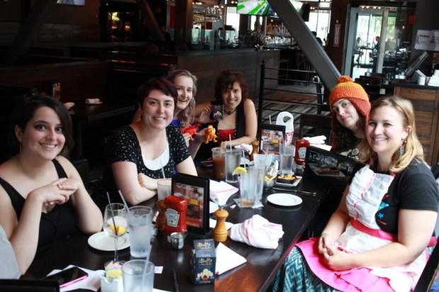 August showers didn't deter our brunchettes for enjoying some yummy food and awesome swag!