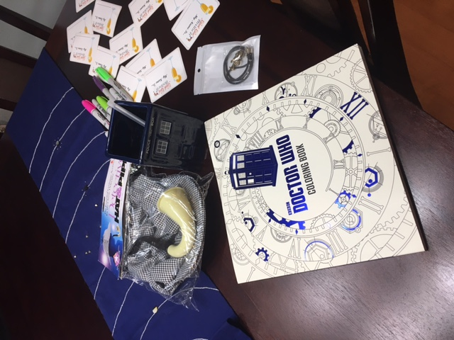 Winners Received A Supernatural Necklace Doctor Who Coloring Book Sherlock Detectives Hat Pipe And Tote Bag