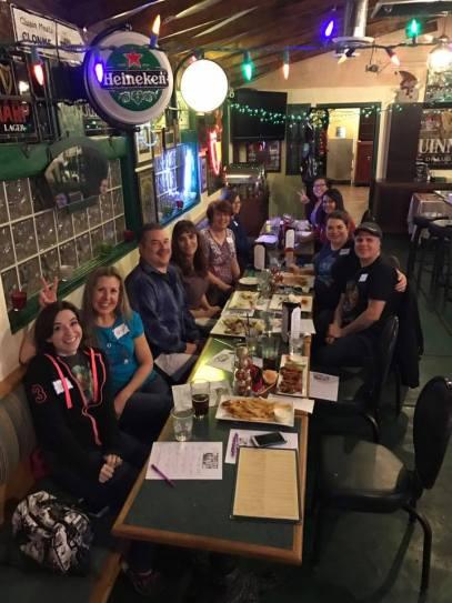 Whovian Brunchers sit at Rosie McCaffrey's Irish Pub