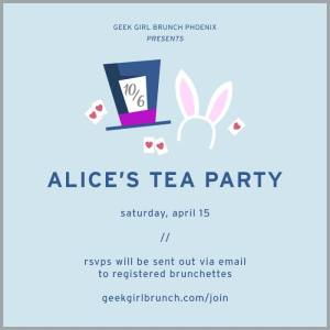 Alice's Tea Party announcement