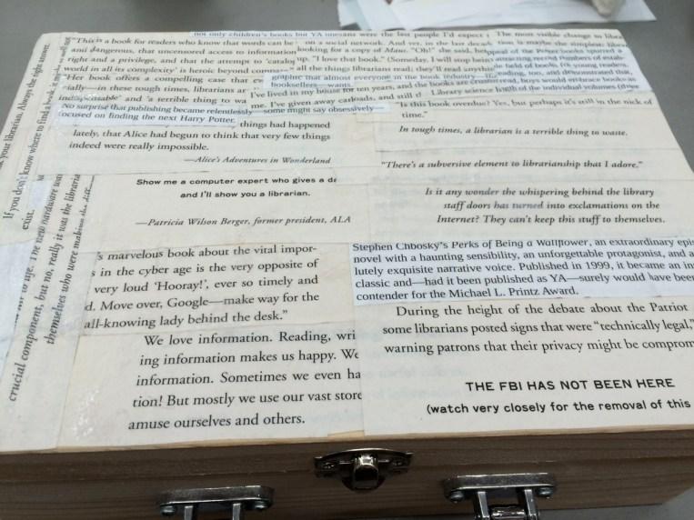Lauren's bookish box.