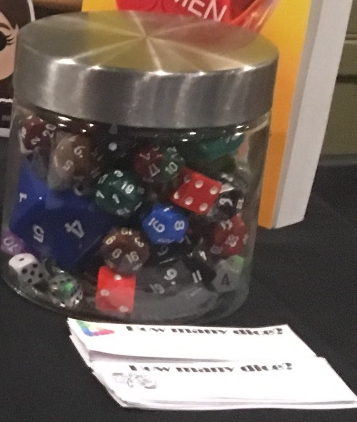 How many dice are in the jar?