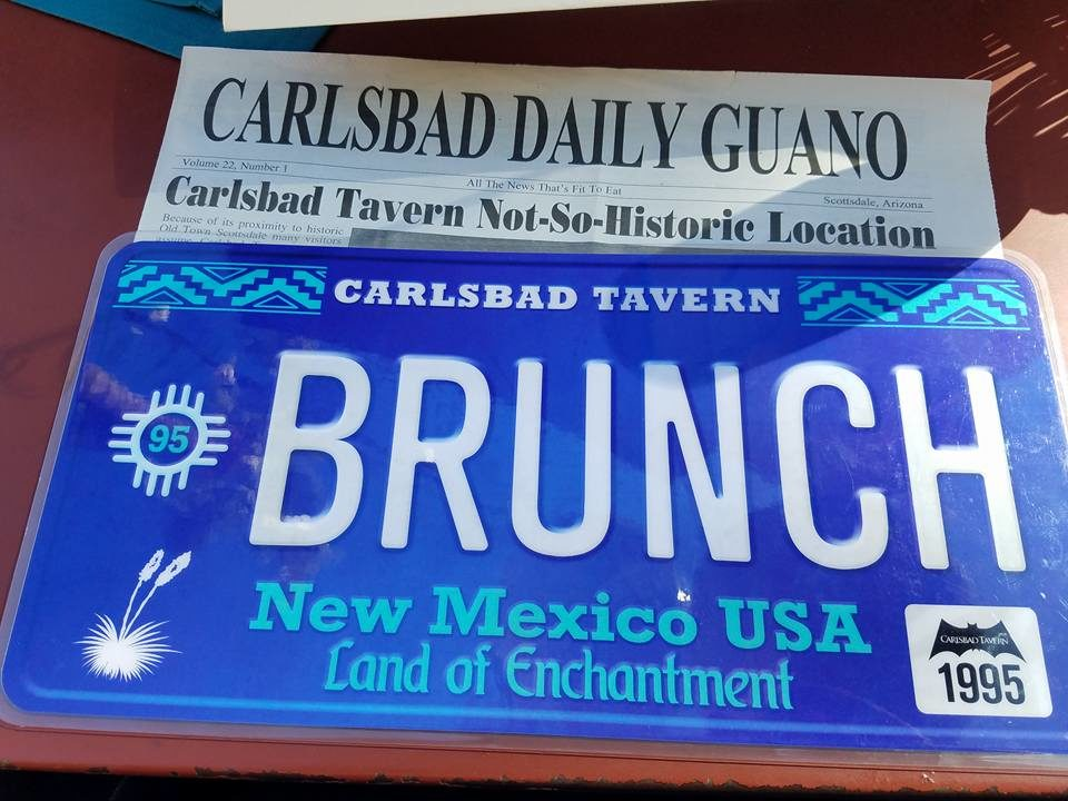 Carslbad Tavern brunch menu