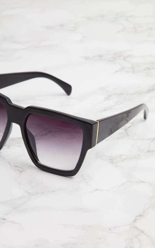 Square Oversized Sunglasses for Women Men Flat Top ... Square Sunglasses for Women Trendy Flat Top Fashion Shades