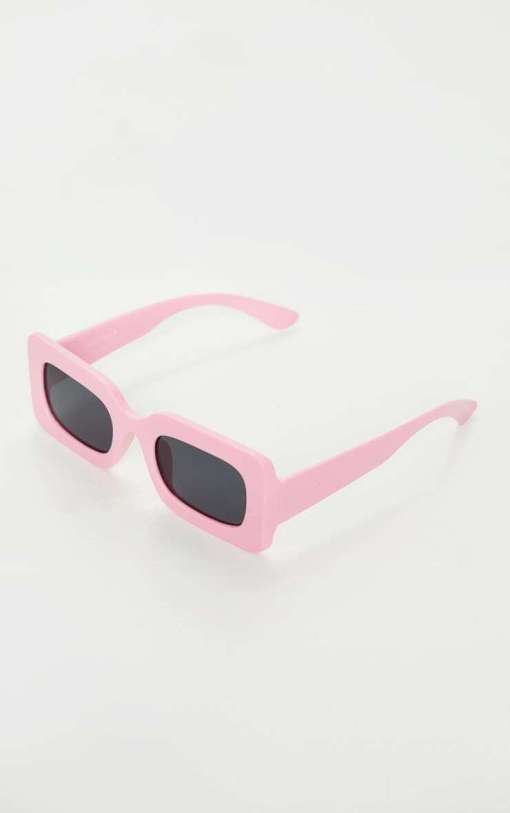 Pink Rimmed Aviator Square Sunglasses women