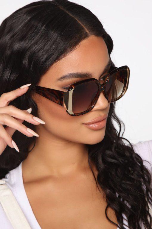 Oversized Square Tortoise Sunglasses