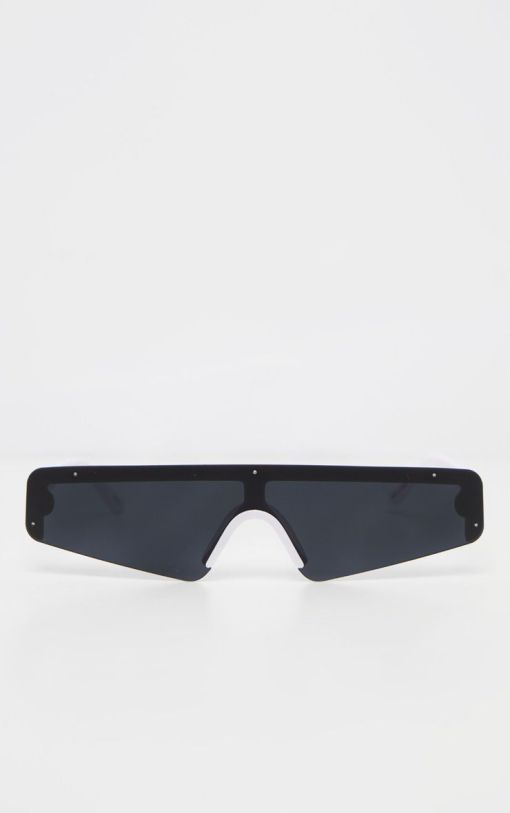 Black and White Small Cat Eye Sunglasses Women