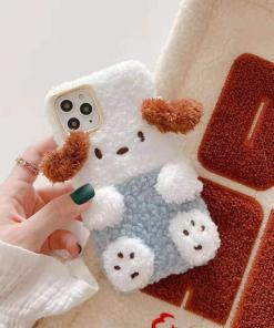 fluffy dog phone case