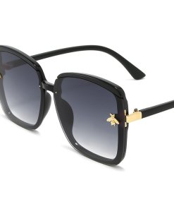 Titanium Aviator Oversized Sunglasses Butterfly