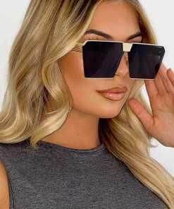Oversized Aviator Square Sunglasses Women