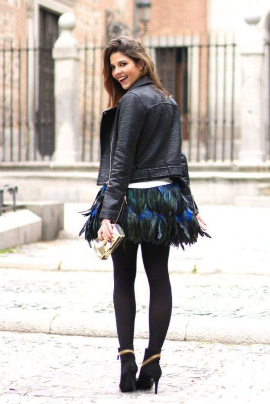 Feathers And Leather Layers