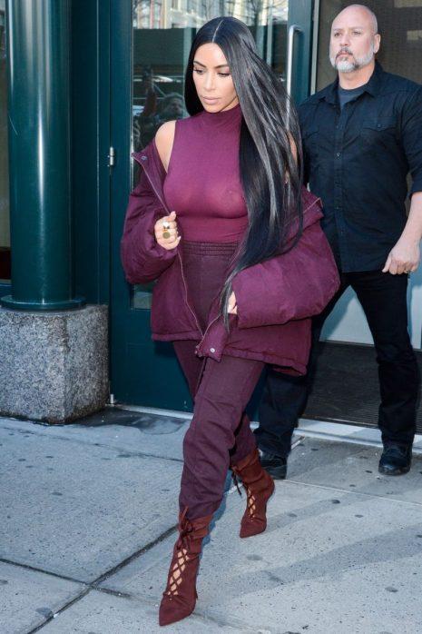 Kim Wearing Monochromatic Outfits