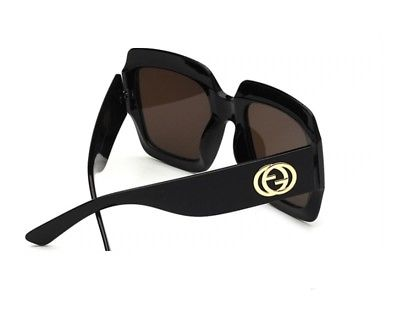 Black Oversized Aviator Square Cat Eye Sunglasses Women
