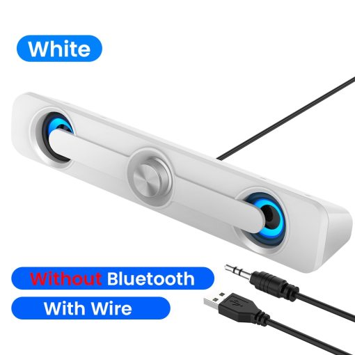 USB Bluetooth Computer Speaker Bar Stereo Subwoofer Bass Surround Sound Box Desktop For PC Mini With Wired Loudspeaker For Home