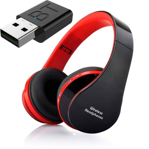 Gaming Headset Headphones For TV Bluetooth Wireless Adapter SD Card FM Support Bass Stereo Headphone For PC with Microphone