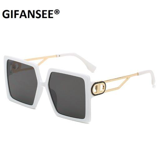 Square Sunglasses Women Fashion 2021 New Vintage Shades Men Brand Design Luxury Big Sun Glasses UV400 Oversized Eyewear Female