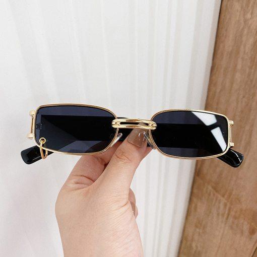 black square flat top sunglasses