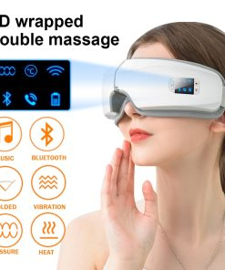 New 4D Bluetooth Eyes Massager Music Massage Heating Electric Smart Mask For Sleep Airbag Vibration Anti Wrinkle Eye Care Device