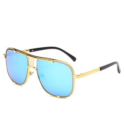 2020 Fashion Metal gradient square frame men's sunglasses brand Design driving sunglasses Vintage sun Glasses oculos de sol