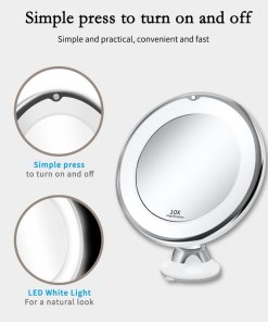 LED Mirror Makeup Mirror with LED light vanity Mirror 7X Magnifying Mirror LED Miroir Grossissant Magnifying Dropshipping Vip