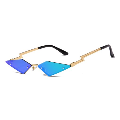 Fashion Cat Eye Sunglasses Luxury Brand Designer Women Metal Rimless Sun glasses Lady Trend Sunglass UV400 Shades Eyewear