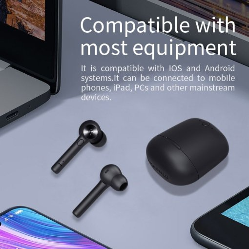 Bluedio Hi wireless tws earbuds bluetooth earphone stereo sport earbuds wireless headset with charging box built-in microphone