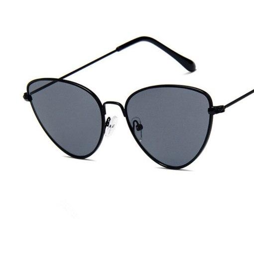 COOYOUNG Fashion Women Cat Eye Sunglasses Brand Designer Retro Metal Coating Mirror Sun Glasses Goggle UV400 Eyewear