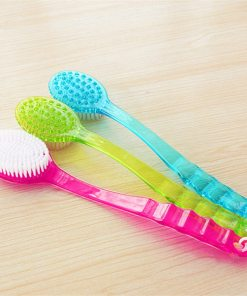 Bath Brush Back Body Bath Shower Sponge Scrubber Brushes With Handle Exfoliating Scrub Skin Massager Exfoliation Bathroom Brush