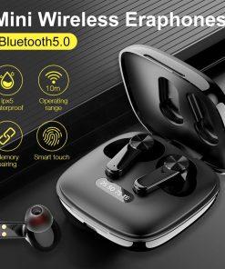 True Wireless Earphones Bluetooth5.0Headphones Touch Control with Charging Case IPX5 Waterproof Sports Earpiece Stereo Earbuds