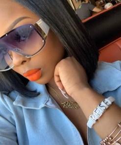Fashion Oversized Sunglasses New Men Women Metal Rimless Sun glasses Luxury Brand Design Vintage UV400 Sunglass gafas de sol