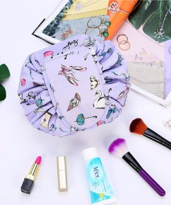 Women Drawstring Travel Cosmetic Bag Makeup Bag Organizer Make Up Cosmetic bag Case Storage Pouch Toiletry Beauty Box Foldable